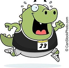 Cartoon Lizard Running Race