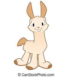 Cartoon Llama Alpaca - Cartoon llama. Isolated objects for...