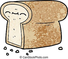 cartoon loaf of bread