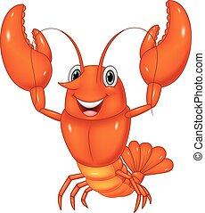 Cartoon lobster  - Vector illustration of Cartoon lobster