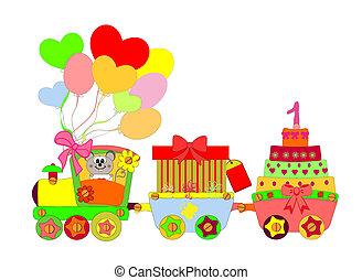 Cartoon Locomotive vector