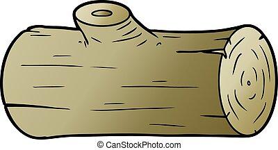 cartoon log