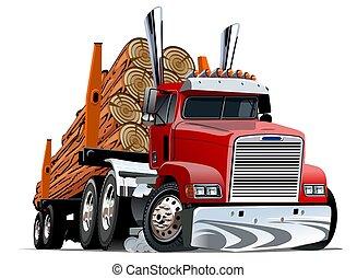 Cartoon logging truck
