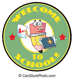 Cartoon Logo Mascot-Pencil