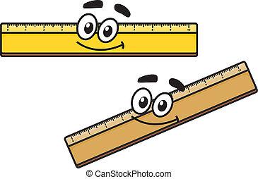 Cartoon long school ruler