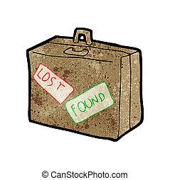 cartoon lost luggage
