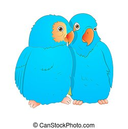 Cartoon Love Birds