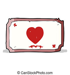 cartoon love heart frame
