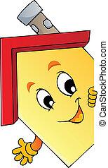 Cartoon lurking house