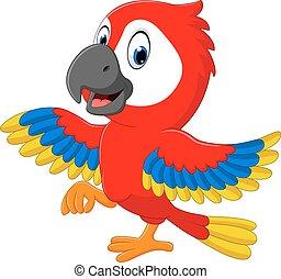 Cartoon macaw