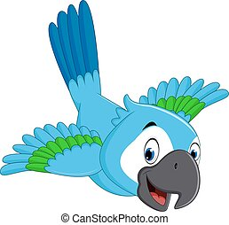 Cartoon macaw