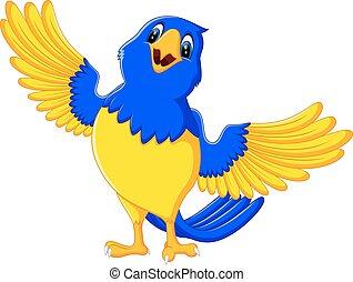 Cartoon macaw - illustration of Cartoon macaw smile