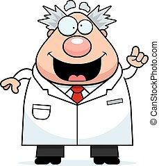 Cartoon Mad Scientist Idea - A cartoon illustration of a mad...
