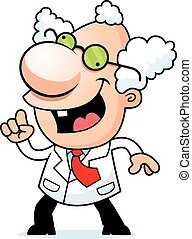Cartoon Mad Scientist Idea - An illustration of a cartoon...