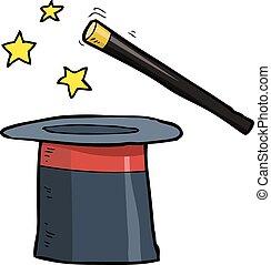 Cartoon magic hat