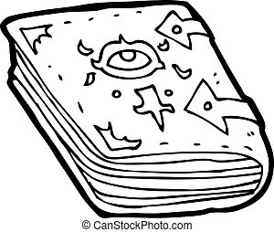 cartoon magic spell book