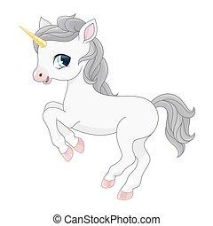 Cartoon  magic unicorn illustration.