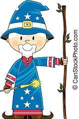 Cartoon Magical Wizard