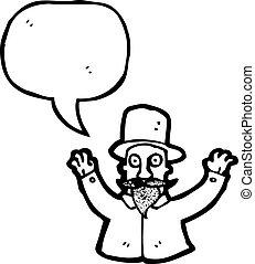 cartoon magician