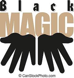 Cartoon Magicians hands vector illustration Black magic