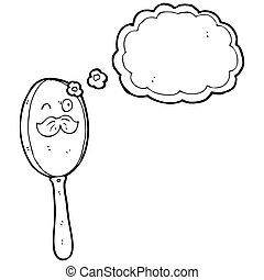 cartoon magnifying glass