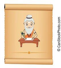 Maharishi Valmiki Vector - Cartoon Maharishi Valmiki Vector...