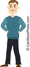 Cartoon Male isolated on white background. Vector