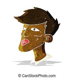 cartoon male model guy