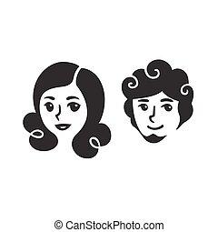 man and woman portraits