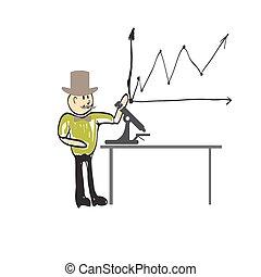 Cartoon man biologist