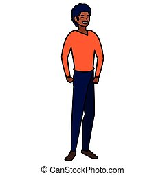 Cartoon man icon