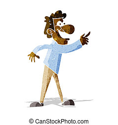cartoon man pointing and laughing