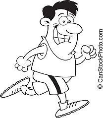 Cartoon man running