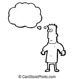 cartoon man thinking