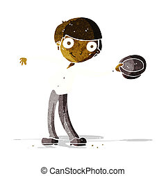 cartoon man tipping hat