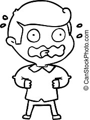 cartoon man totally stressed out