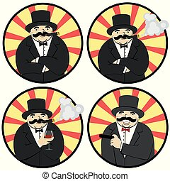 cartoon man with a cigar
