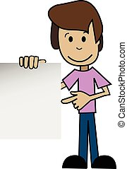Cartoon man with a white background