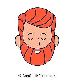 cartoon man with beard icon