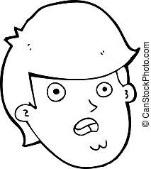 cartoon man with big chin