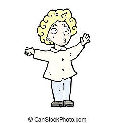 cartoon man with curly hair