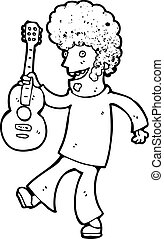 cartoon man with guitar