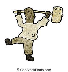 cartoon man with hammer