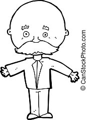 cartoon man with mustache - cartoon man with mustach