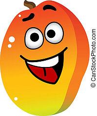 Cartoon mango fruit character - Cartoon happy fresh tropical...