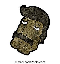 cartoon manly mustache face