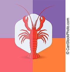 Crayfish Vector Illustration