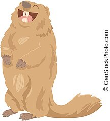 cartoon marmot animal character