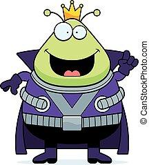 Cartoon Martian King Idea