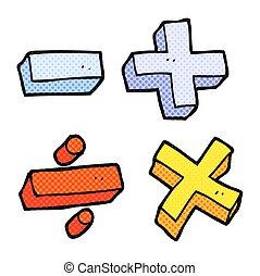 cartoon math symbols